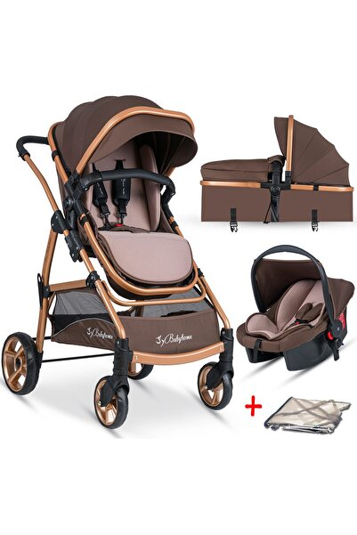 Baby Home Bh-855 Mix Gold Travel Sistem Bebek Arabası + Puset