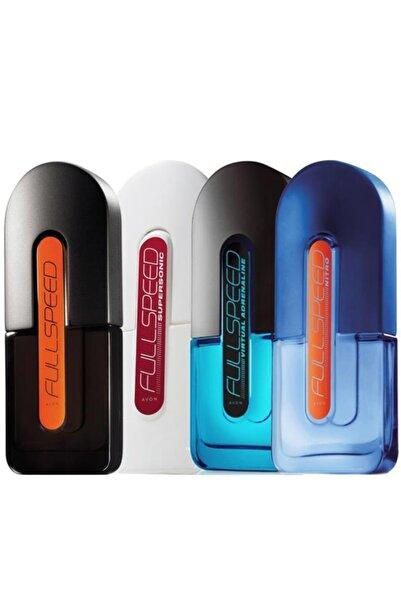 AVON Full Speed Klasik Supersonic Virtual Adrenaline ve Nitro Edt 75 ml Erkek Parfüm Seti
