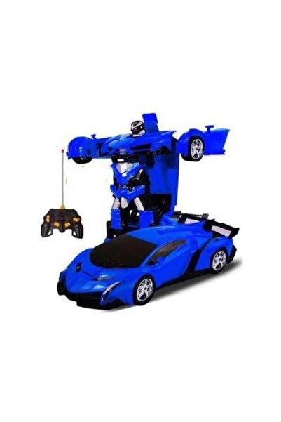 Mashotrend Uzaktan Kumandalı Şarjlı Robota Dönüşen Araba - Oyuncak Robota Dönüşen Mavi Araba