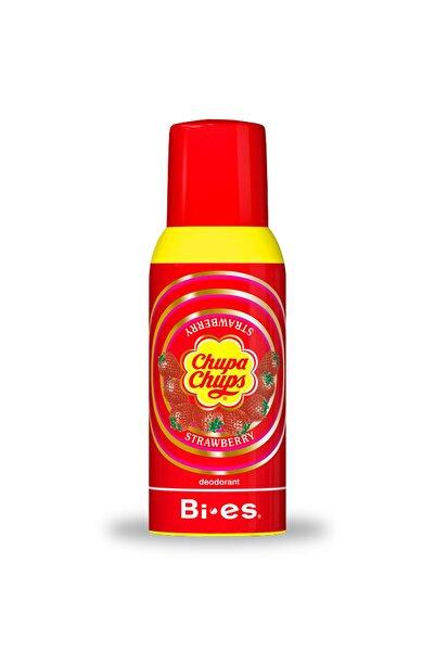 BIES Chupa Chups Strawberry Kids Deodorant 150 Ml Çilek Aromalı Çocuk Deo Sprey