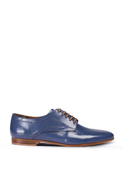 Deery Hakiki Deri Mavi Günlük Kadın Ayakkabı