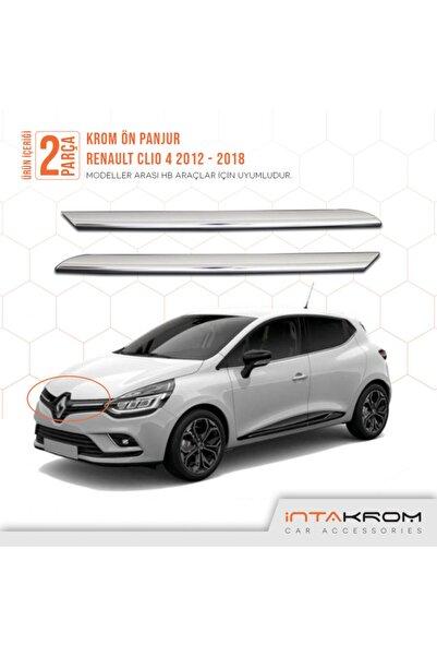 İntachrom Renault Clio 4 Krom Ön Panjur 2 Parça - 2012-2018