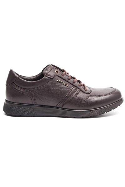 Greyder Erkek Kahve Deri Comfort Casual Ayakkabı