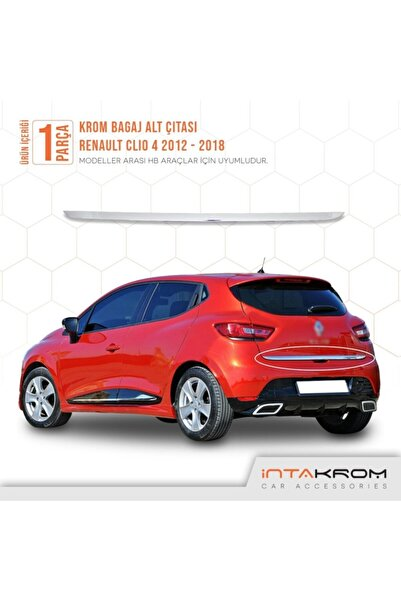 İntachrom Renault Clio 4 Krom Bagaj Alt Çıtası 2012 Ve Üzeri / Hb