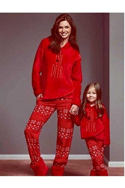 Penyemood Çocuk Kırmızı  Kadife Pijama Takım Catherine's 1135