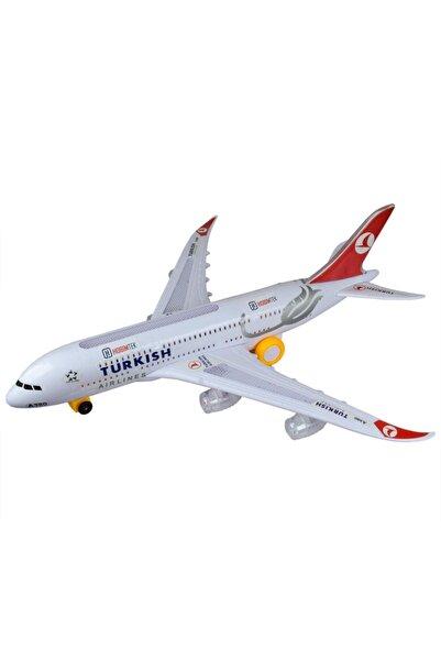 Hobtoys Türk Hava Yolları A380 Oyuncak Uçak Işıklı Hareketli 45 Cm