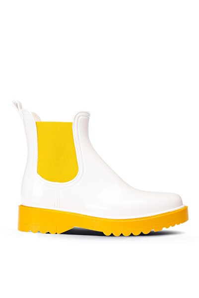 Deery Kadın Beyaz Yağmur Botu