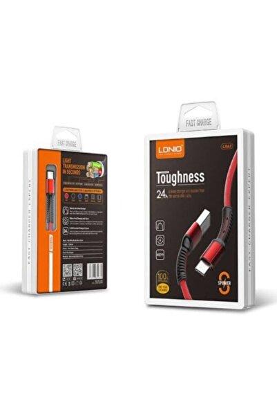 ucuzmi Ldnıo Ls63 Toughness Type-c Tüm Seri 2.4 60amper Usb Kablo 1mt.-örgülü-hızlı Şarj Kablosu
