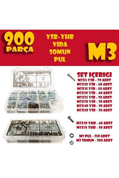 Site Hırdavat 900 Parça M3 Vida Civata Somun Pul Seti