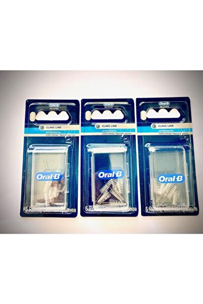 Oral-B Clinic Line Arayüz Fırçası Yedeği 3.00 Mm Çam Tipi 6 Lı*3 Adet