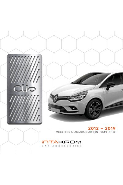 İntachrom Renault Clio 4 Krom Ayak Dinlendirme Pedalı - 2012 - 2020 Hb -sw