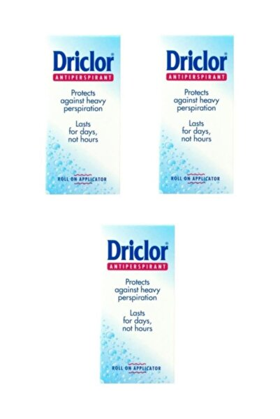 Driclor Solution Roll-on 20 Ml - Antiperspirant X 3 Adet