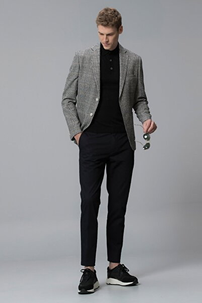 Lufian Procida Spor Blazer Ceket Slim Fit Siyah