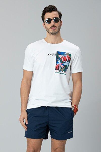Lufian Nefer Modern Grafik T- Shirt