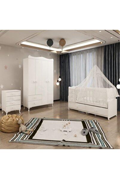 Garaj Home Bebek Odası 5 Çekmeceli Büyüyen Beşik 4 Kapaklı Dolap Şifonyer