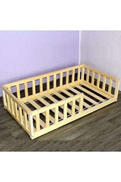 Markaawm Montessori Çocuk Yatak Doğal Çam 90x190 Karyola Yelken
