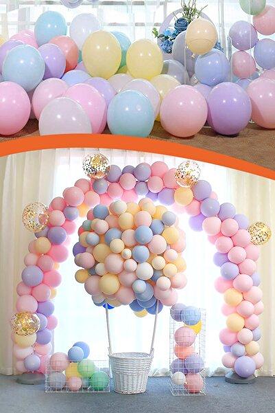 Kazanabil 20li Makaron Soft Renk Parti Balonu Karışık Renkli