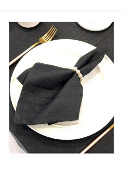 Missy Zeynoçeyiz Colber Masa Örtüsü Takımı 12 Kişilik Siyah Renk 26 Parça Kutulu