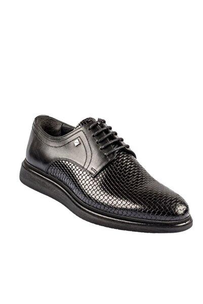 Fosco Bağcıklı Siyah Hakiki Deri Erkek Günlük Ayakkabı 9137 324 46