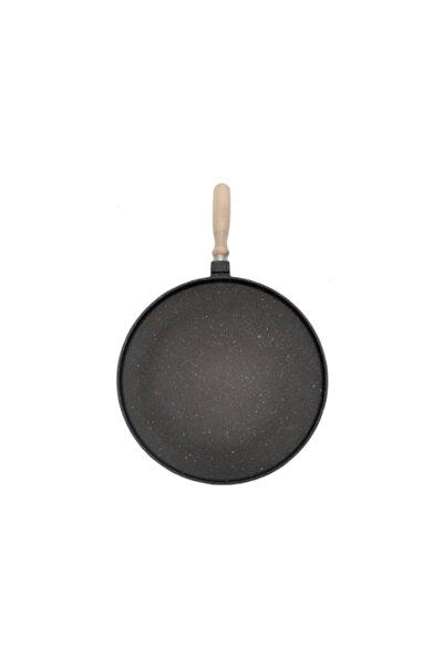 Penguen Granit 36 Cm Sığ Gözleme Tavası Siyah