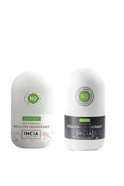 Incia Doğal Roll-on Deodorant Erkek-kadın 50 Ml X 2 Adet