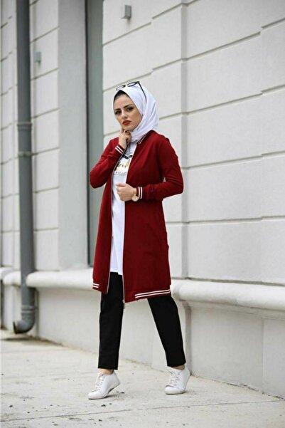 Camelya Fashion Kadın Bordo Spor Üçlü Takım