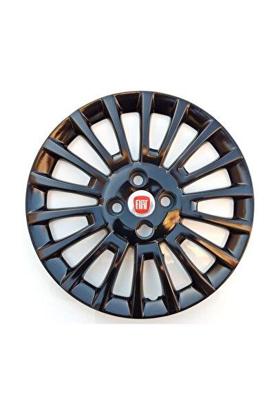 Seta 15'' Inç Fiat Linea Jant Kapağı 4 Adet Çelik Jant Görünümlü Parlak Siyah