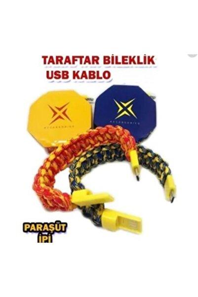 Universal Abc Taraftar Bileklik Sarj Kablosu Micro Usb Galatasaray