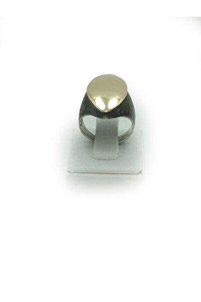 Bridalaischa Alt Gümüş Üst Badem Parlak Bronz Otantik Gümüş Yüzük
