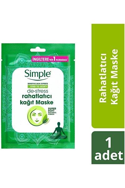 Simple Kind To Skin De-Stress Rahatlatıcı Kağıt Maske 21 ML
