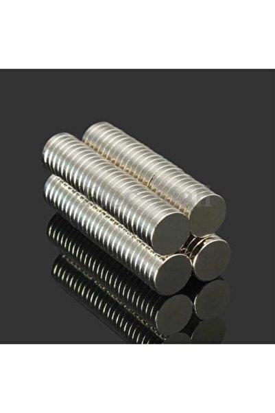 Dünya Magnet 50 Adet 10mm X 2mm Güçlü Yuvarlak Neodyum Mıknatıs (50'li Paket)