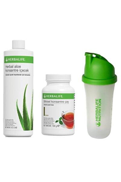 Herbalife Herbal Set 1 Adet Aloe Suyu + 1 Adet 100 Gr Çay + Shaker Hediye