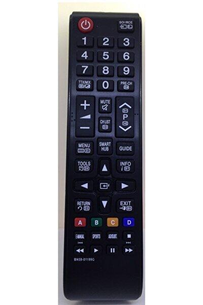 Samsung Tüm Modellerine Uyumlu Kısa Smart Hub Tuş Lcd Led Tv Kumandası