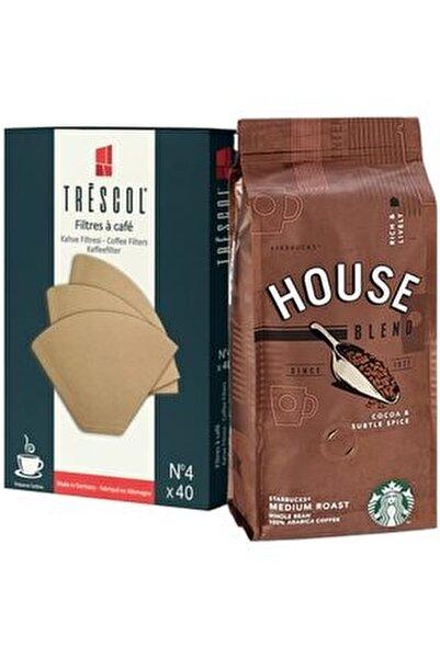 House Bln 250gr Öğütülmş+trescol Kahve Filtre 4no 40'lı