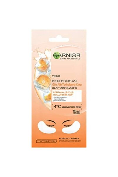 Garnier Göz Altı Torbalarına Karşı Kağıt Göz Maskesi Portakal Suyu