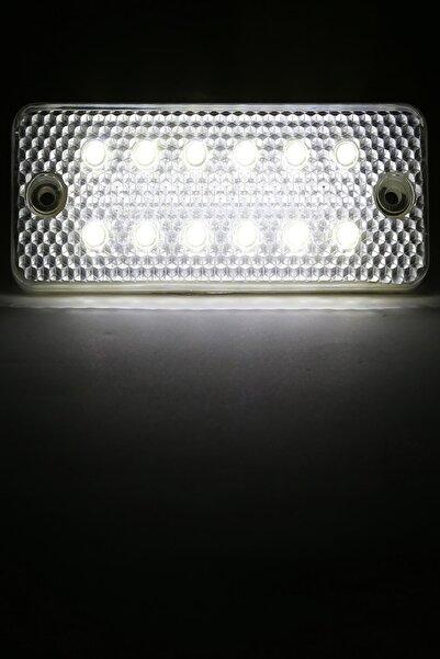 Sedef Oto Yan Sinyal Side Marker Led Lamba 12 Led 12/24 Volt Beyaz 2 Adet