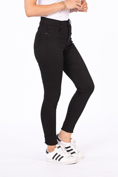 BARRELS AND OIL Kadın Siyah Yüksek Bel Pantolon 210