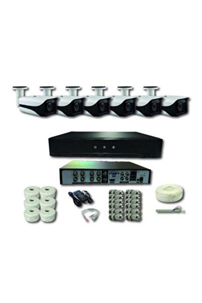 CCTV 6 Kameralı Metal Kasa 2 Mp Ir Bullet Ahd Kamera Sistemi 1080p H265+ Dvr Kayıt Cihazı
