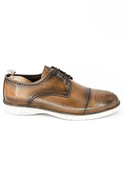 DeepSEA Erkek Taba Bağcıklı Deri Ayakkabı 2001800
