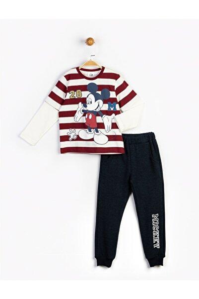Mickey Mouse Erkek Çocuk Kırmızı Baskılı Takım 16240