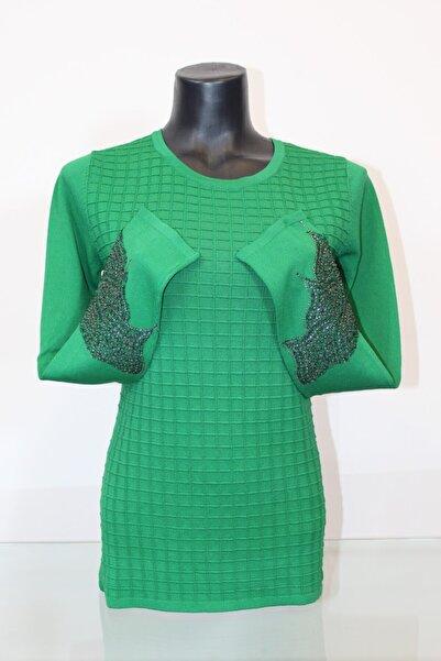 Pierre Cardin Kadın Yeşil Kol Detaylı Bluz