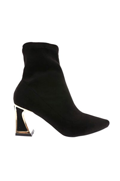 DGN 1813 Kadın Sivri Burun Topuklu Çorap Bootie 20k