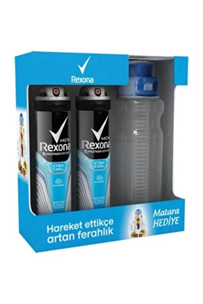 Rexona Men Xtra Cool Deo Sprey 2x150 Ml + Su Matarası Rx01