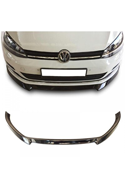 Universal Volkswagen Golf 7 Piano Black Lip Ön Tampon Eki