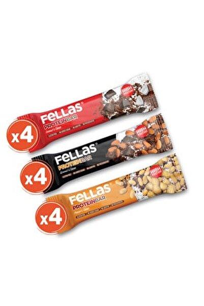 Yüksek Protein Bar 45g Karma Kutu 12 Adet (3 Çeşit)