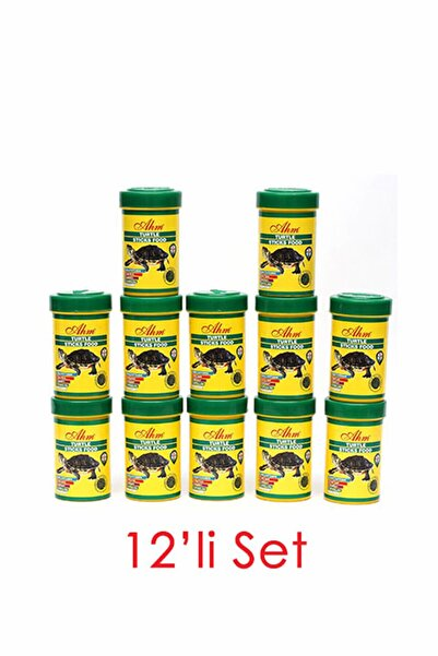 Ahm Turtle Stick Green Food Otçul 100 Ml 12li Balık Yemi 8699375330557