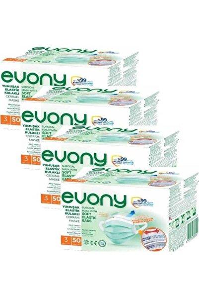 Evony Cerrahi Maske 50 Li 4 Paket 200 Adet Maske