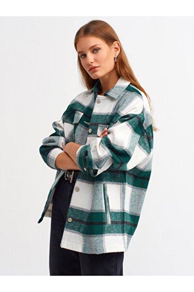 Dilvin Kadın Yeşil Oduncu Gömlek 103A05688