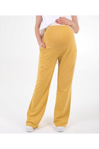 Hubla Design Kadın Sarı Hamile Pantolonu