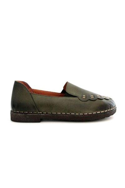 Beta Kadın Hakiki Deri Ayakkabı Yeşil